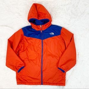 The North Face boy hooded reversible puffer jacket
